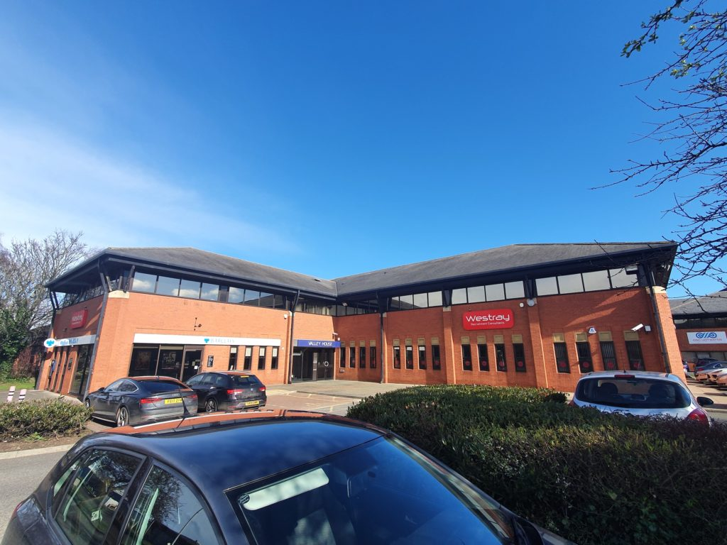 Co*Shabang Gateshead Offices for Co-working, Co-sharing, Office & Meetings Rooms.  Car Park View